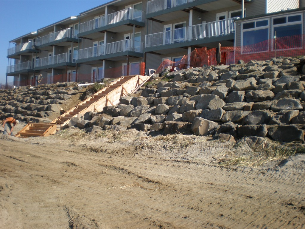 D Sands Sea Wall repaired and ready for a few years of  winter storms